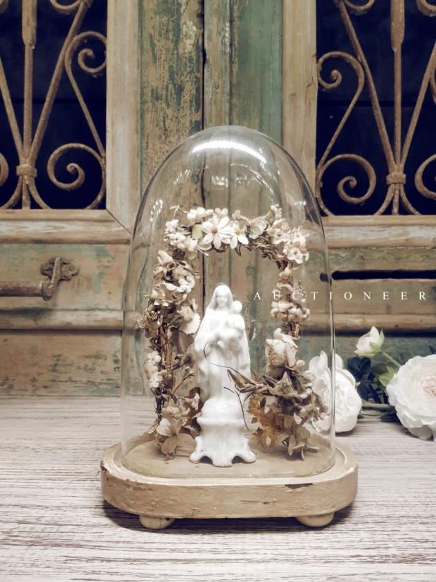 1930年代<br>法國手工花藝鐘罩 2