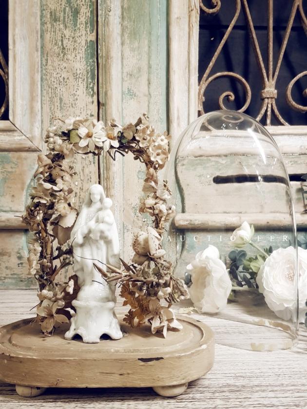 1930年代<br>法國手工花藝鐘罩 4