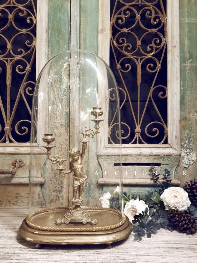 1900年代<br>法國手工玻璃鐘罩 1
