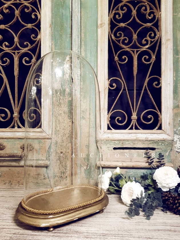 1900年代<br>法國手工玻璃鐘罩 2