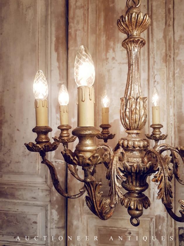 1930年代<br>義大利實木吊燈 3