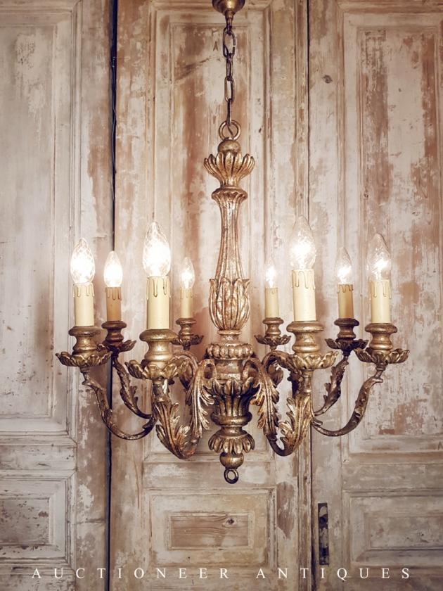 1930年代<br>義大利實木吊燈 2