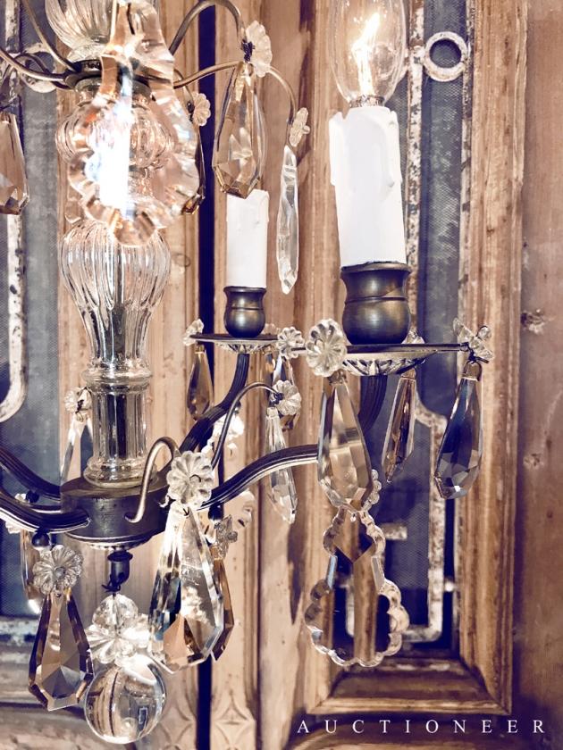 1930年代<br>法國琥珀色水晶吊燈 3