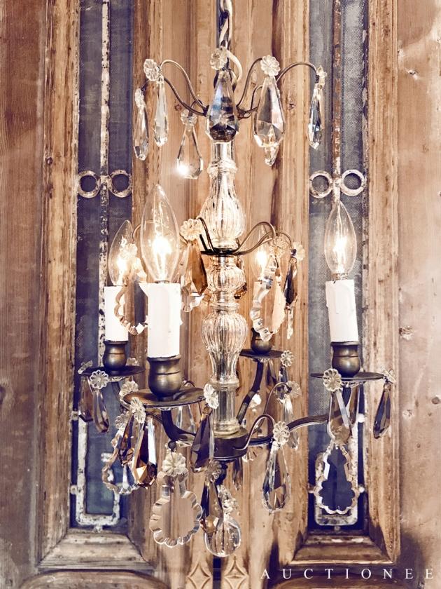 1930年代<br>法國琥珀色水晶吊燈 2