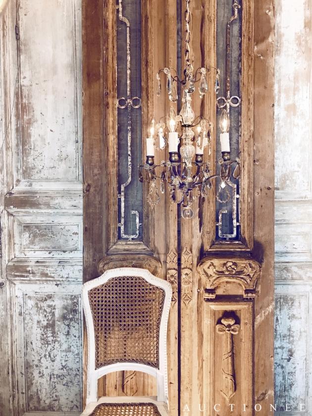 1930年代<br>法國琥珀色水晶吊燈 1