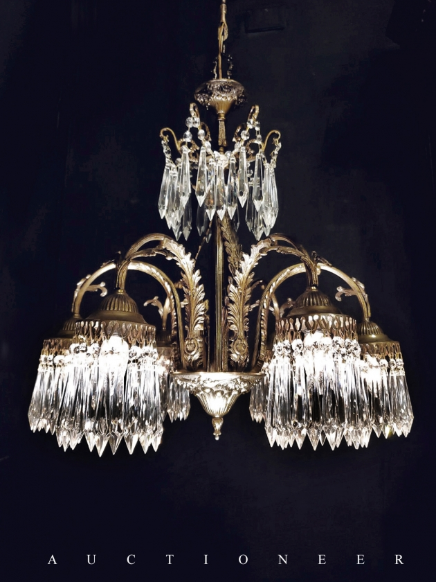 1930年代<br>法國流蘇水晶燈 2