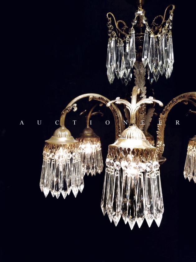 1930年代<br>法國流蘇水晶燈 3