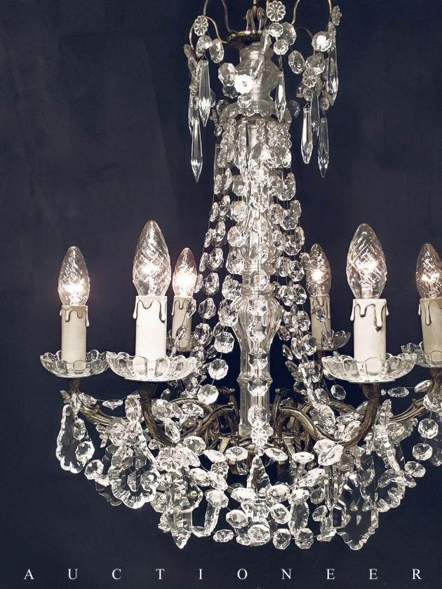 1950年代<br>法國水晶吊燈 2