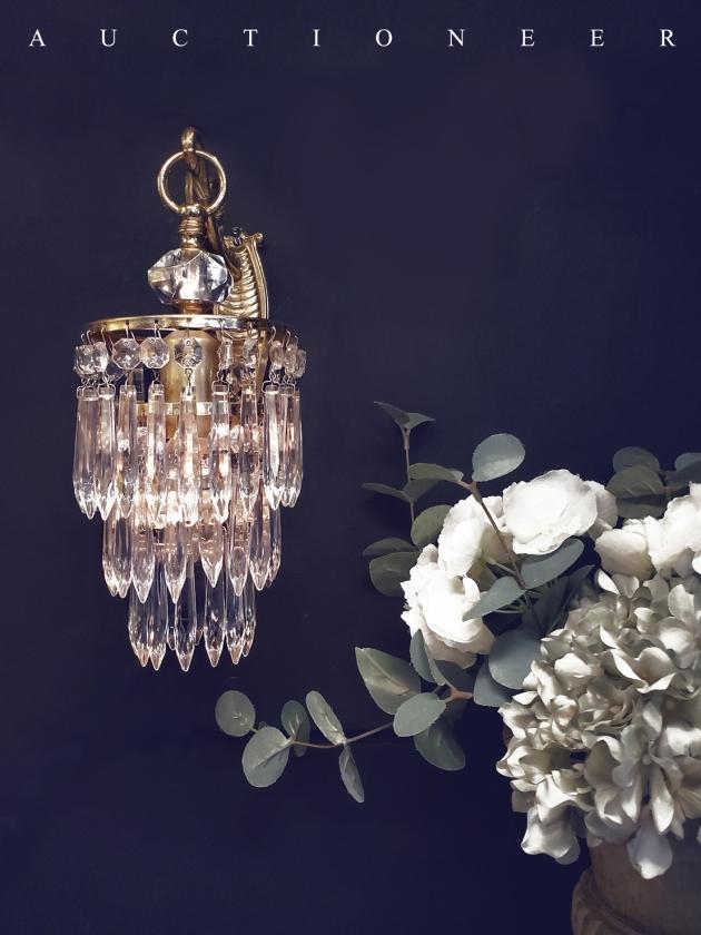 1950年代<br>法國流蘇水晶壁燈 1