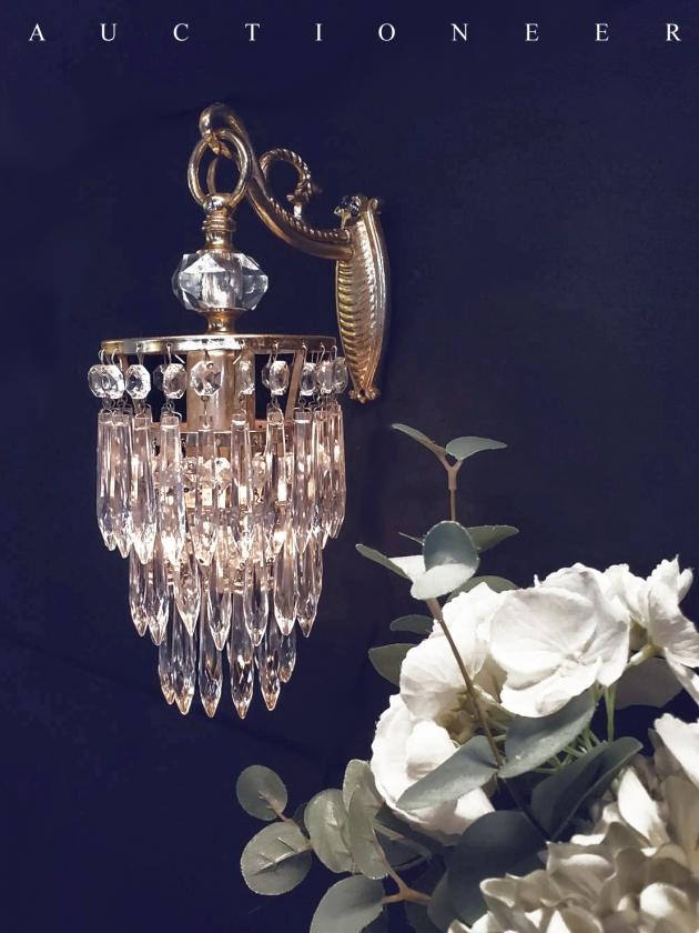 1950年代<br>法國流蘇水晶壁燈 2