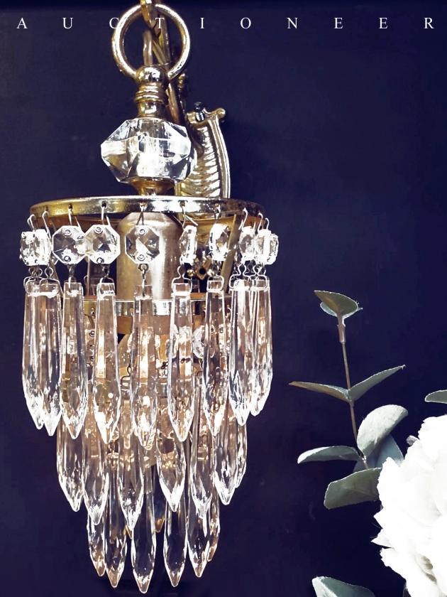 1950年代<br>法國流蘇水晶壁燈 3