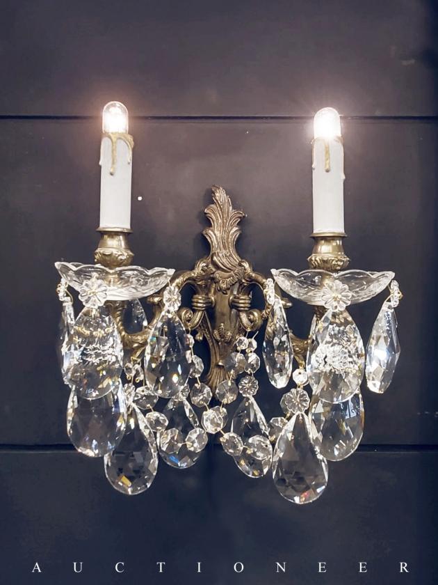 1950年代<br>法國洛可可水晶壁燈 2