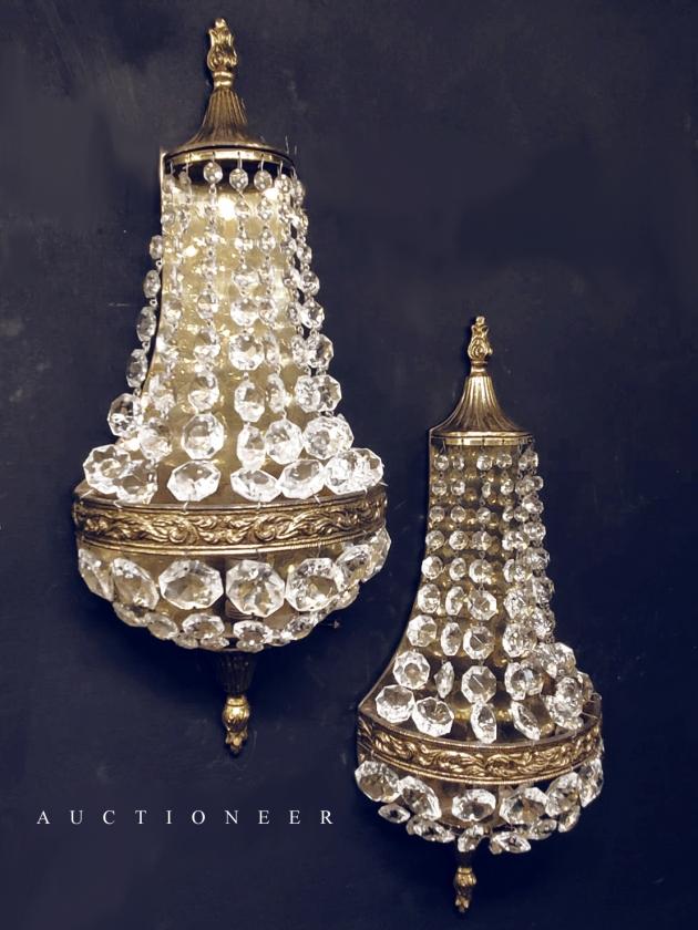 1930年代<br>法國Empire水晶壁燈 3
