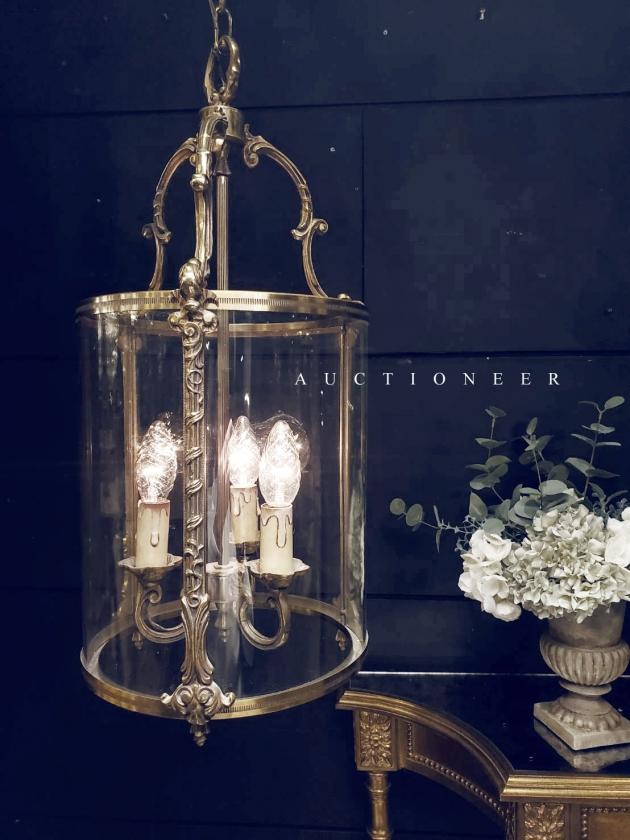 1950年代<br>法國銅雕吊燈 2