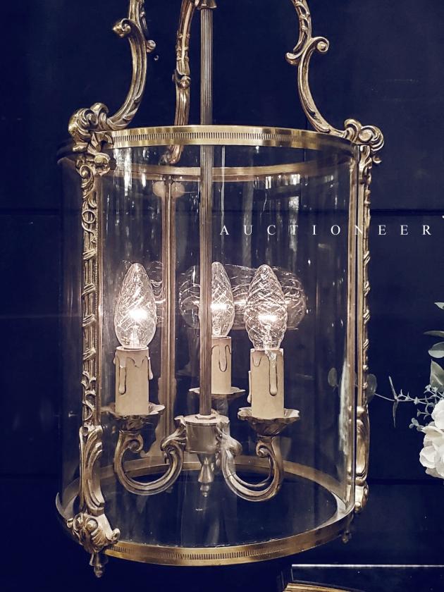 1950年代<br>法國銅雕吊燈 3