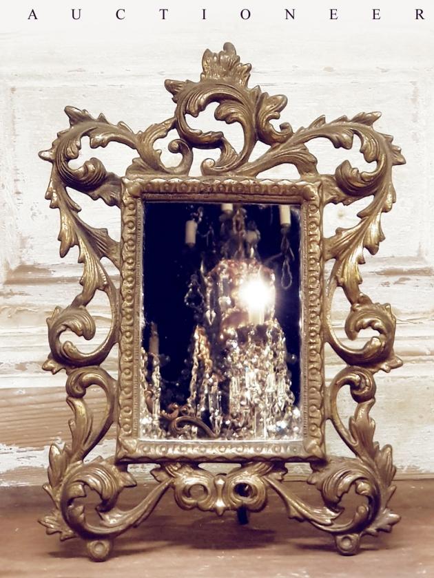 1930年代<br>法國黃銅古董鏡 1