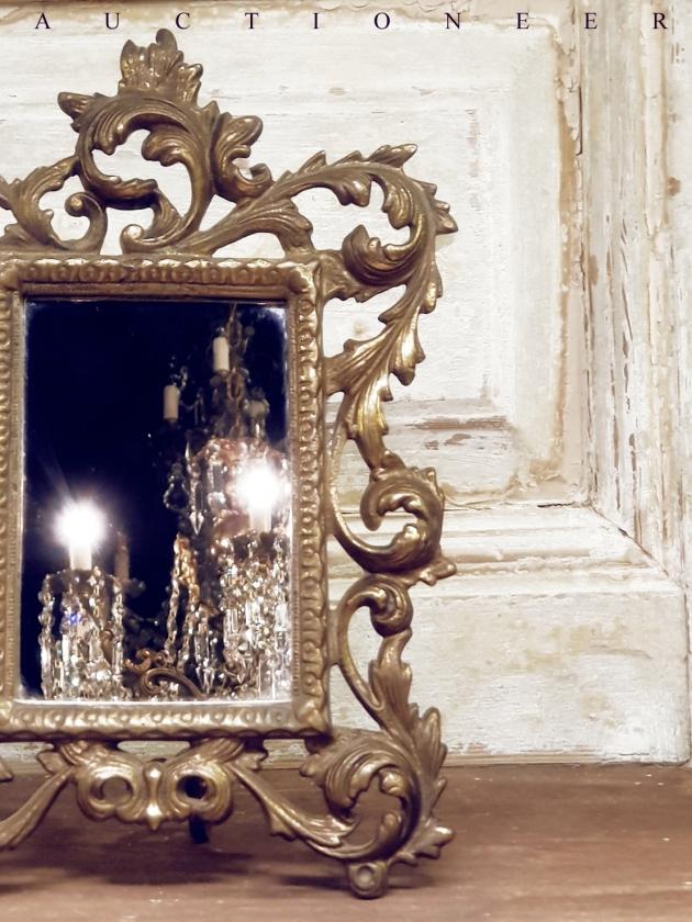 1930年代<br>法國黃銅古董鏡 2
