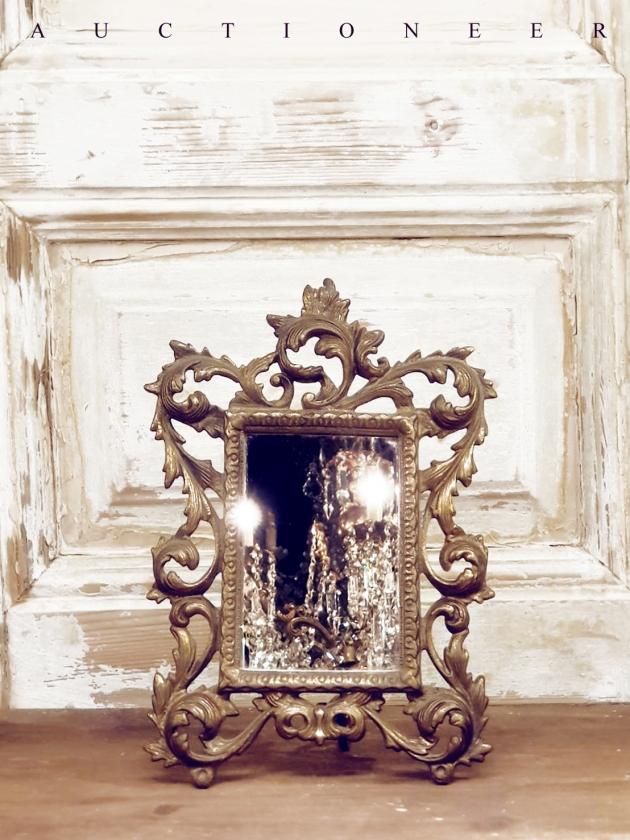 1930年代<br>法國黃銅古董鏡 3
