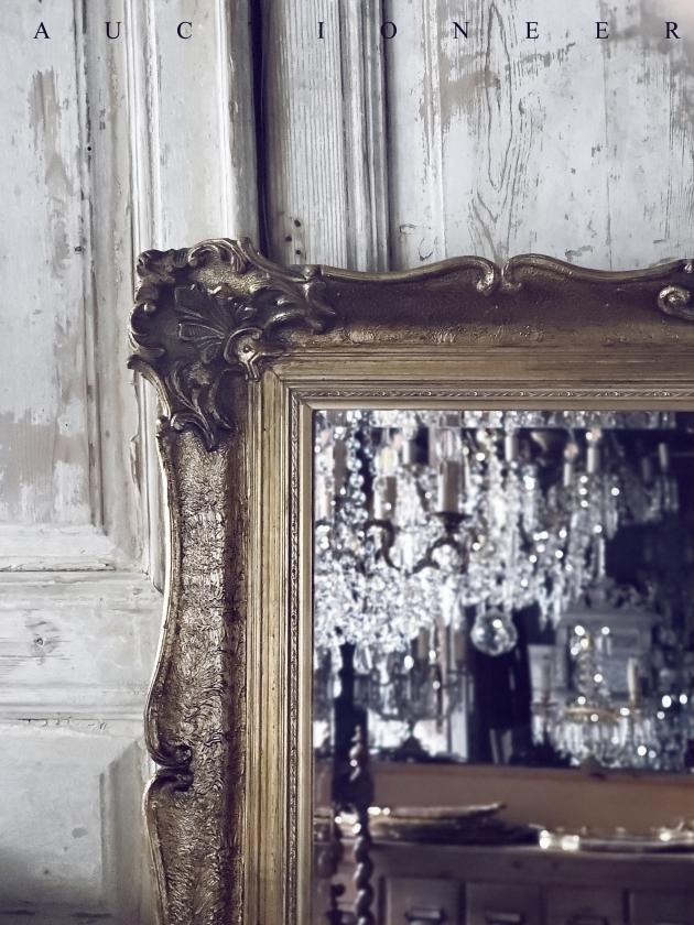 1950年代<br>法國實木雕刻古董鏡 2