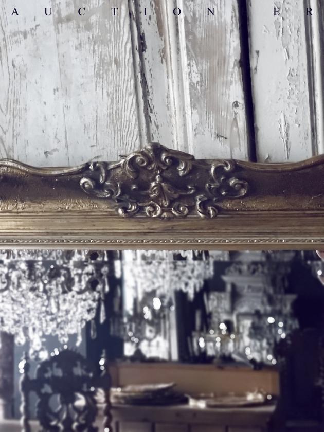 1950年代<br>法國實木雕刻古董鏡 3