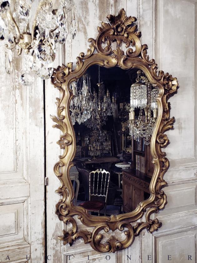 1930年代<br>義大利巴洛克實木掛鏡 3
