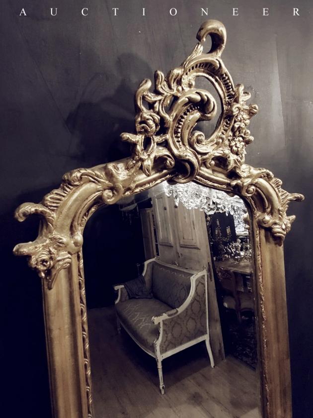 1950年代<br>法國實木全身鏡 3