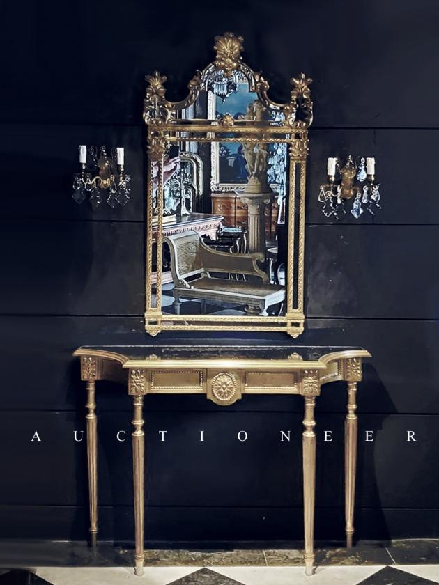 1950年代<br>義大利玄關桌掛鏡組 1
