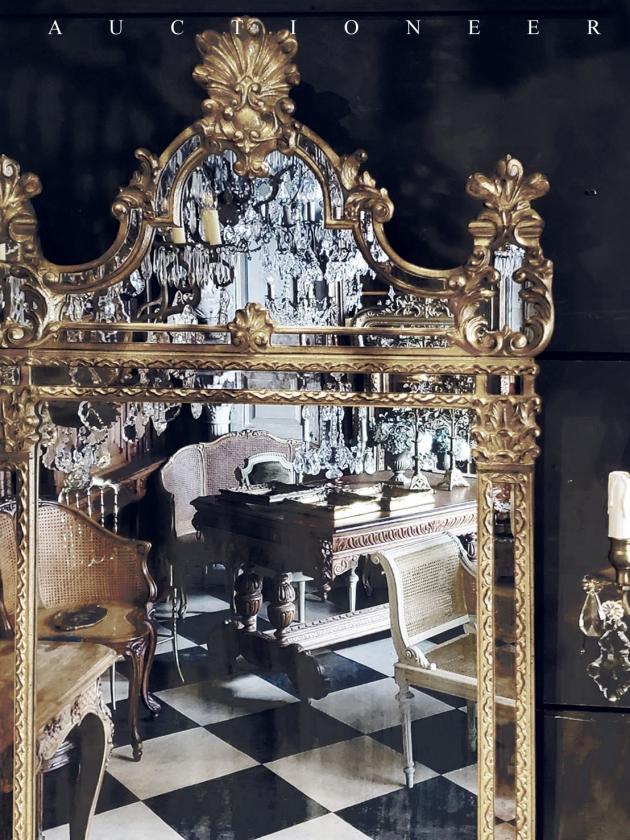 1950年代<br>義大利玄關桌掛鏡組 3