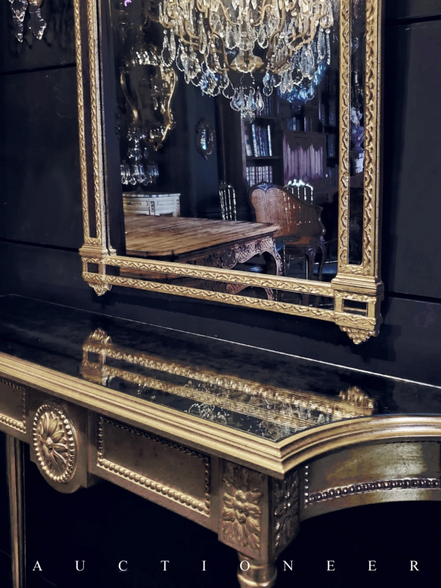 1950年代<br>義大利玄關桌掛鏡組 4