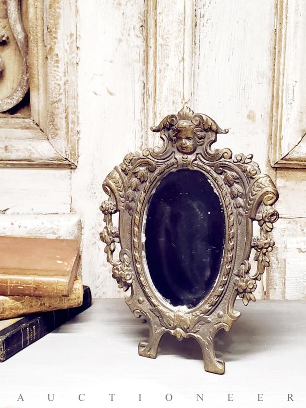 1950年代<br>法國黃銅古董鏡 1