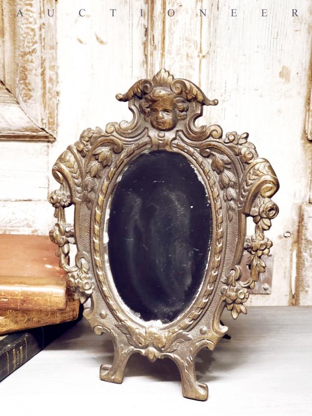 1950年代<br>法國黃銅古董鏡 2