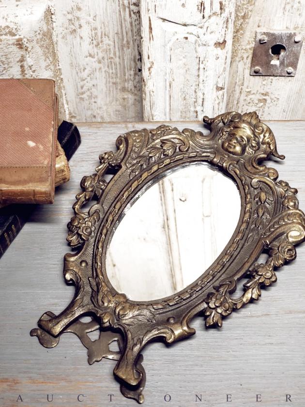 1950年代<br>法國黃銅古董鏡 3