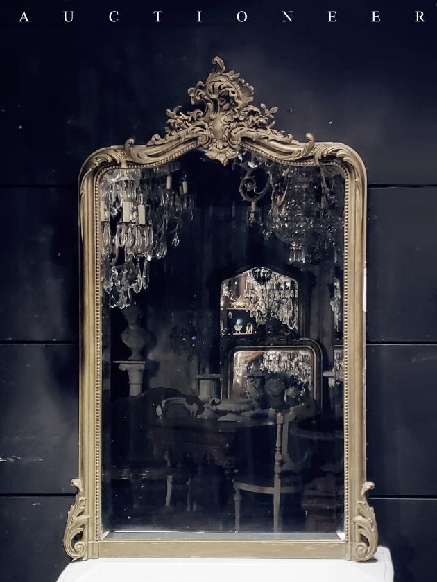 1950年代<br>法國實木掛鏡 1