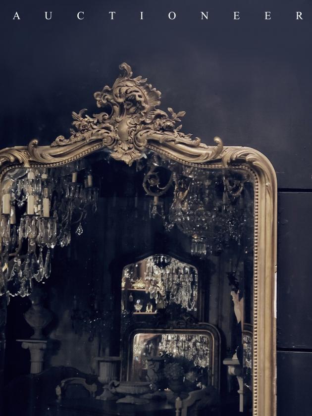 1950年代<br>法國實木掛鏡 2
